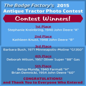 2015 Antique Tractor Photo Contest Winners!
