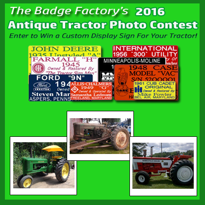 2016 Annual Antique Tractor Photo Contest