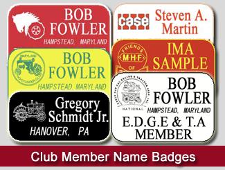club member name badges