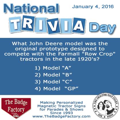 Tractor Trivia